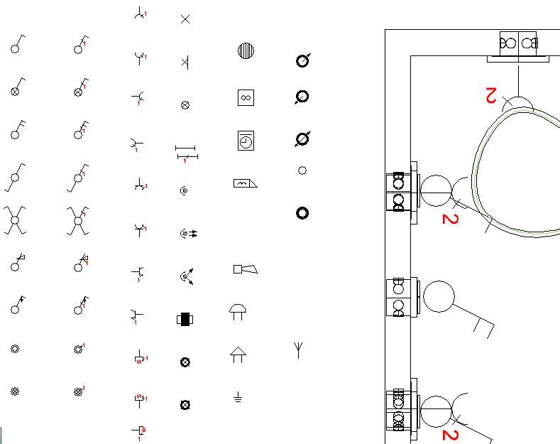 Elektriske symboler hus